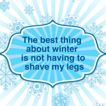 Snowflake shave legs