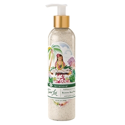 Terranova's Tiare Lei 's Buffing Body Wash with crushed walnut shells helps renew and soften skin.
