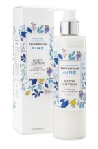 Terranova's Aire Body Lotion with Oat helps soothe sensitive skin