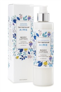 Terranova's Aire Body Lotion with Calendula helps promote skin regeneration.