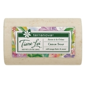 Terranova Tiare Lei Cream Bar Soap with oat helps cleanse sensitive skin