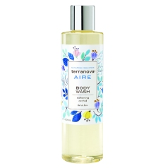 Keep your skin hydrated with a sulfate-free cleanser like Terranova's Aire Hair & Body Wash.